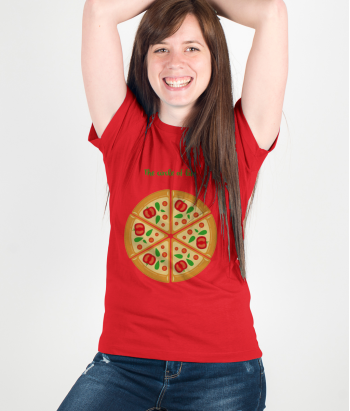 T-shirt pizza circle of life
