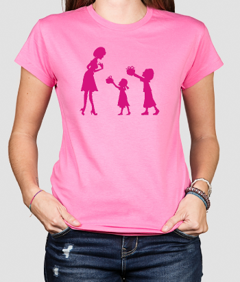 T-shirt silhouette madre figlie