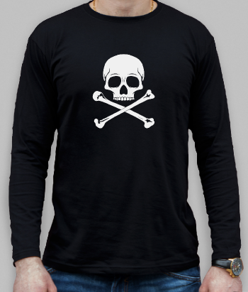 Skull and Crossbones Silhouette Shirt