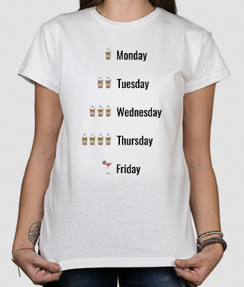 T-shirt scritte Days of the week