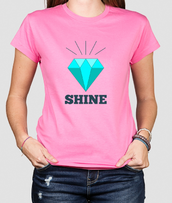 Camiseta diamante shine