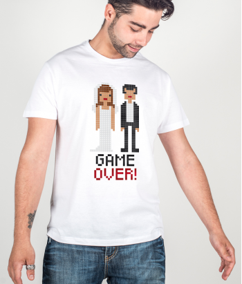 T-shirt addio al celibato Game Over
