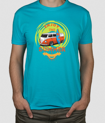 Camiseta surfera enjoy the summer