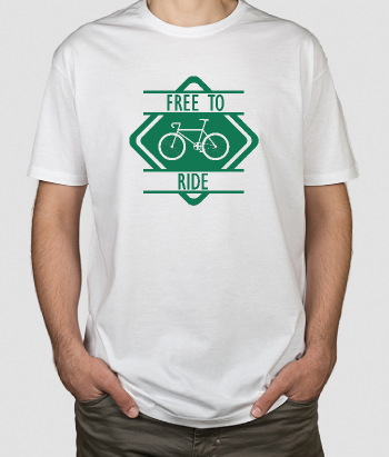 T-shirt Free to Ride fiets