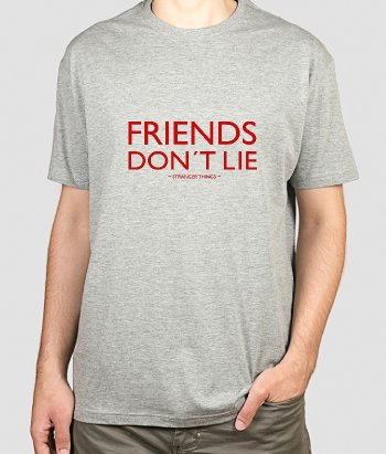 T-shirt con scritta Friends don't lie