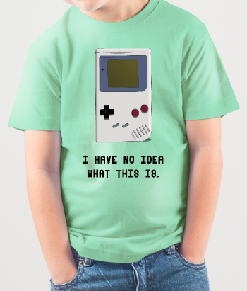 Camiseta infantil Gameboy