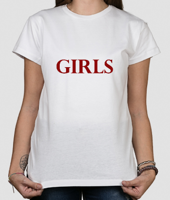 T-shirt tekst Girls