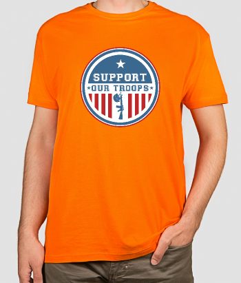 T-shirt militare support our troops