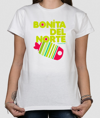 Camiseta Bonita del norte pez color