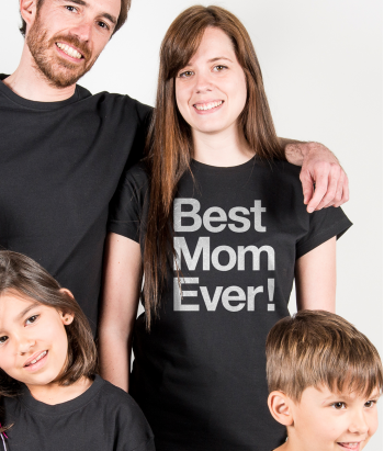 T-shirt fête des mères Best Mom Ever