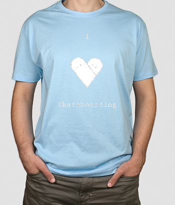 T-shirt texte I love Skateboarding
