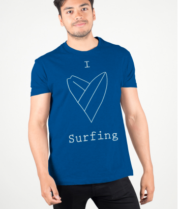 T-shirt surf I love surfing