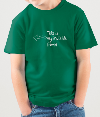 T-shirt divertente invisible friend