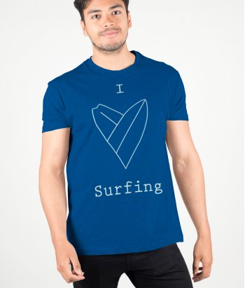 T-shirt I love surf