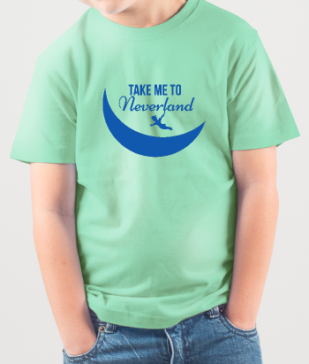 T-shirt per bambini take me to Neverland
