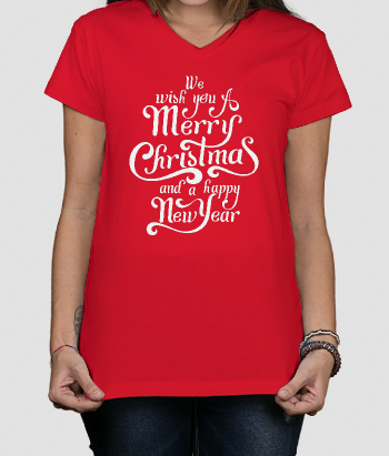 Weihnachts-T-Shirt Merry Christmas