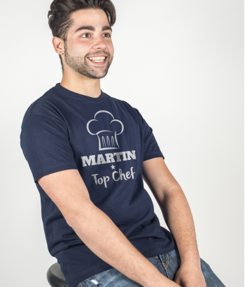 T-shirt personalizável Top Chef