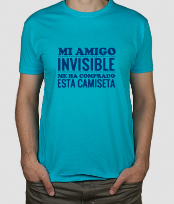 Camiseta divertida Mi amigo invisible