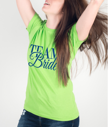 T-shirt tekst Team Bride
