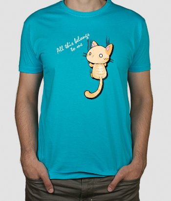 T-Shirt Katze Belongs to me