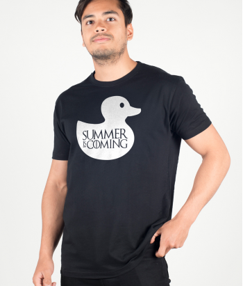 T-shirt divertida pato summer is coming
