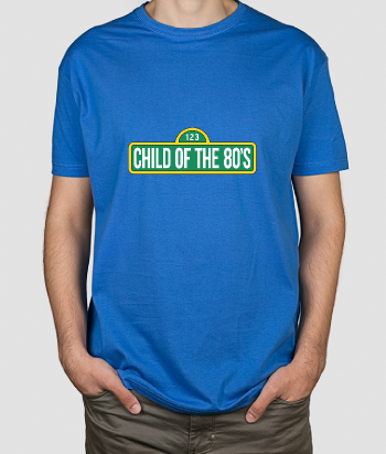 T-shirt tekst Child of the 80s