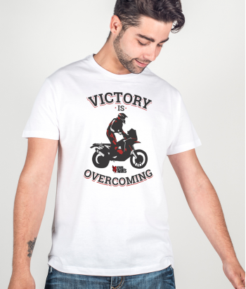 Camiseta motos victory is overcoming