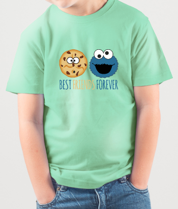 T-shirt Cookie monster en cookie