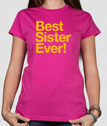 T-shirt con scritta Best sister ever!