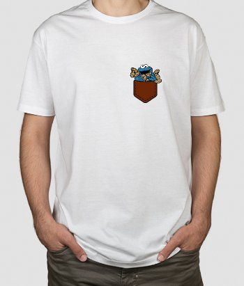 T-shirt poche Cookie Monster