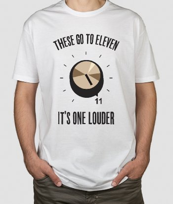 T-shirt musique These go to eleven