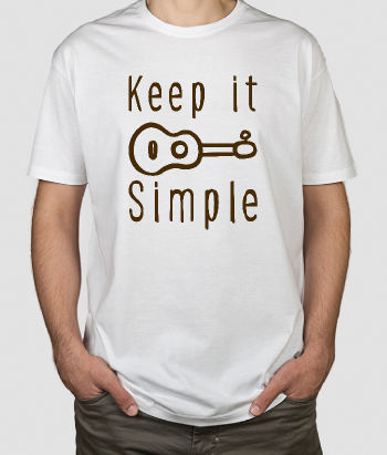 T-shirt tekst Keep it simple