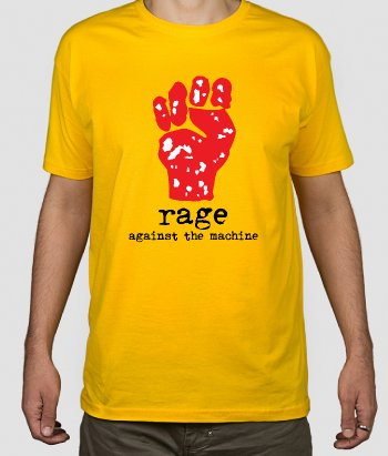 T-shirt música Rage againts the machine