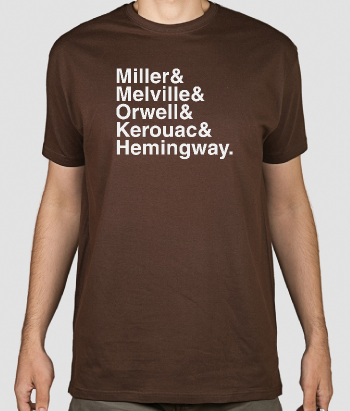 Famous Writer's Names Text Shirt