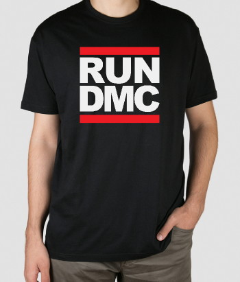 T-shirt musica logo RUN DMC