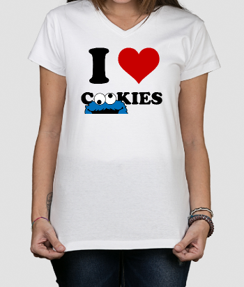 Camiseta divertida I heart cookies