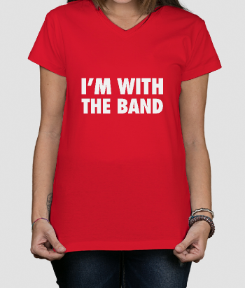 Camiseta música I'm with the band