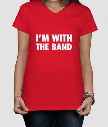 T-shirt musique I'm with the band