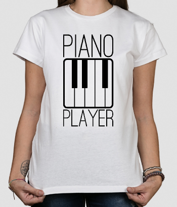 T-shirt música Piano Player