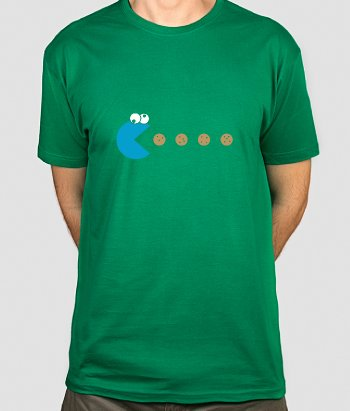 T-shirt Cookie Monster Pac Man