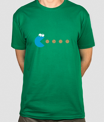 T-shirt divertente Pac cookie monster