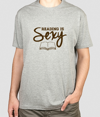 Camiseta con mensaje Reading is sexy