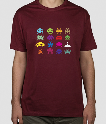 T-Shirt Space Invaders Figuren