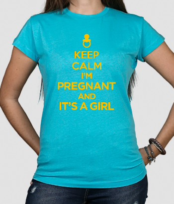 T-shirt keep calm it's a girl