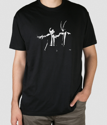 T-shirt pulp fiction horns