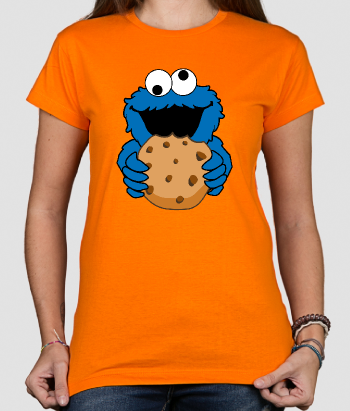 T-shirt Cookie monster met koekje