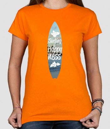 Camiseta surf is happiness