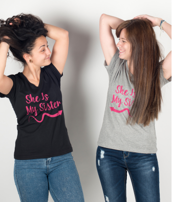 Camisola para pares She is my sister seta