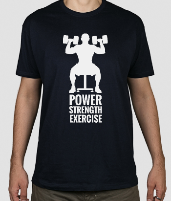 Fitness T-Shirt Power Strength Exercise