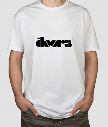 T-shirt musica logo The Doors